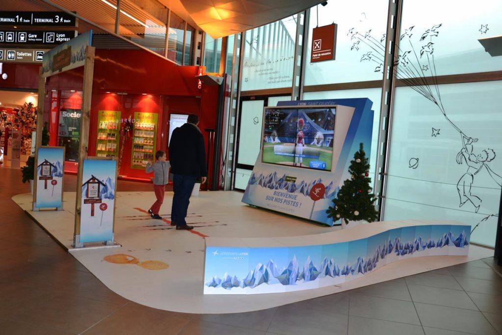 Aménagement aire de jeu digital Aéroport