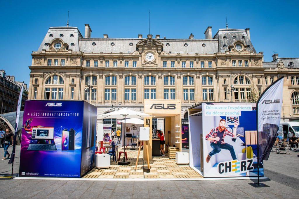 Fabrication et aménagement stand event Parvis St Lazare