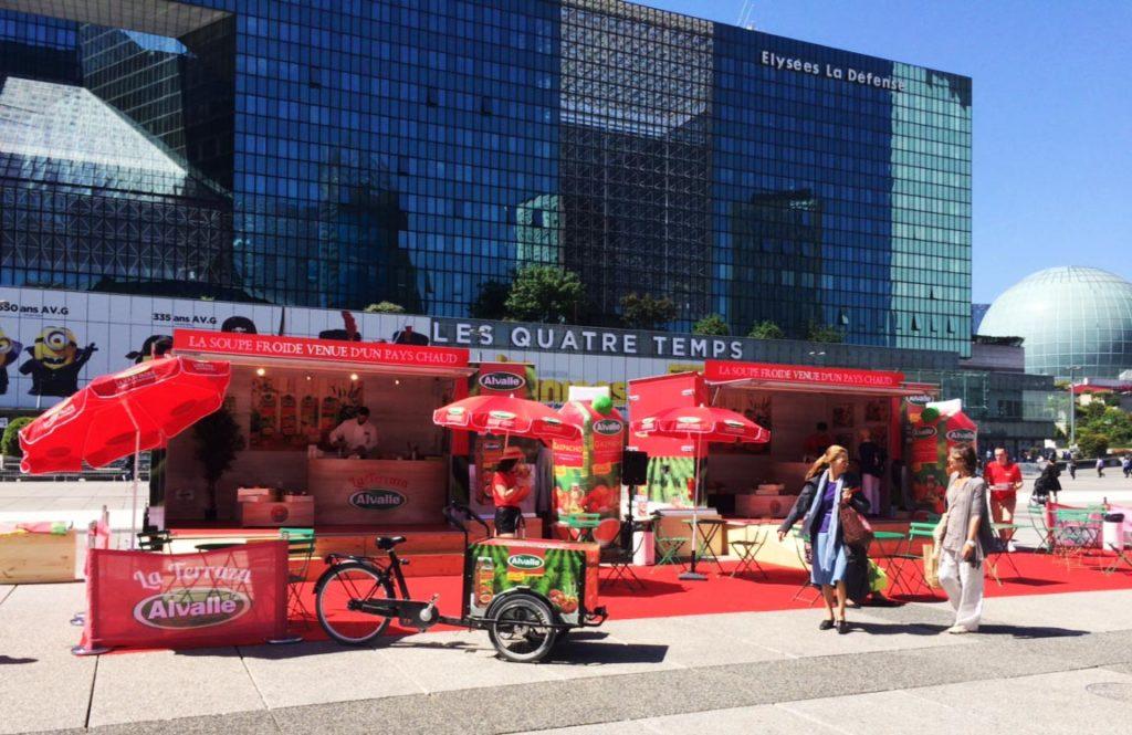 Installation - régie event et véhicules Parvis La Défense