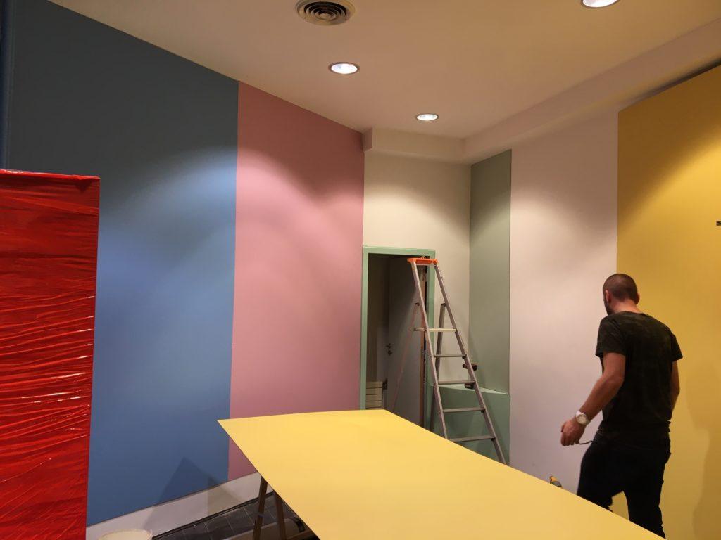 Aménagement - peinture pop up store