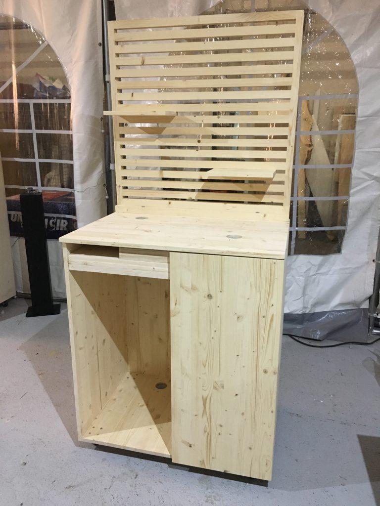 Fabricant meuble sur mesure stand proxi - menuisier événementiel