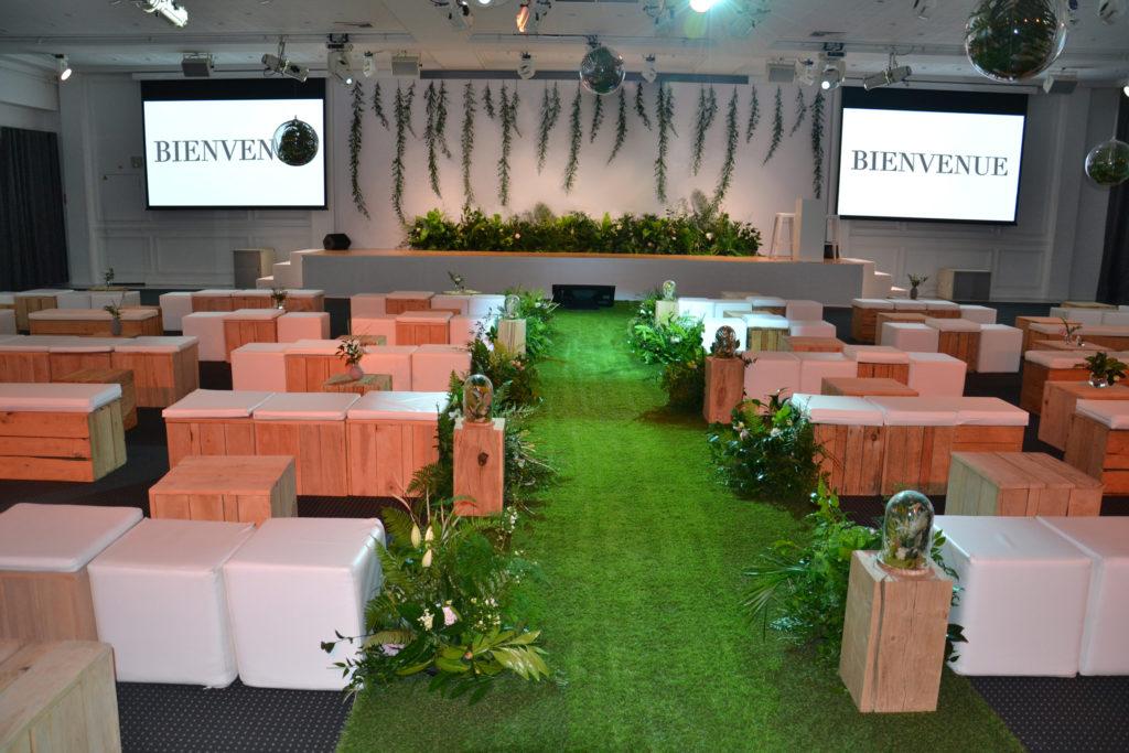 Installation décor végétal séminaire