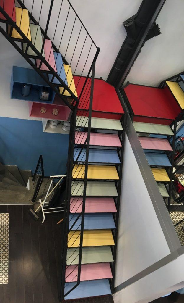 Entreprise covering escalier pop up store éphémère