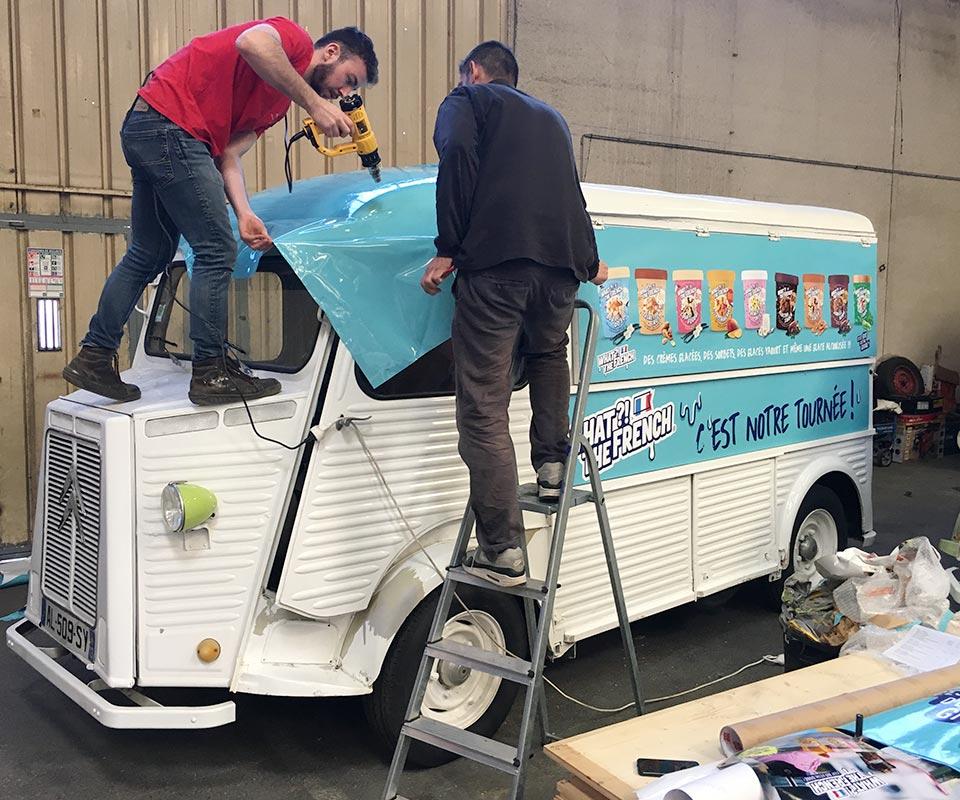 Covering tub Citroen Prodezza à louer pour tournée event